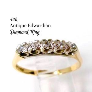 14k Diamond Ring Antique SALE